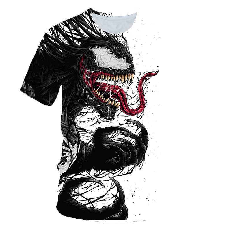 """Забавные футболки Venom Футболка """"Марвел"""" мужские футболки мстителя Повседневная рубашка в готическом стиле принт Carnage футболки 3d с коротким рукавом, стиль панк рок"""