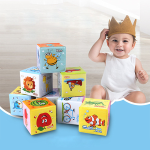 Image 4 - Baby Mobile Magic Cube Baby Toy Plush Block Clutch Rattles Early Newborn Baby Educational Toys 0 12 Months
