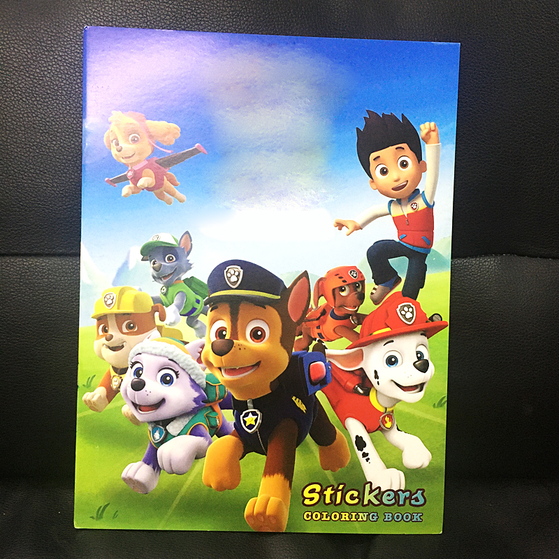 20x27CM 20Page Dog Agent Sticker Book Children Kids Books Adults Coloring Books Painting/Drawing/Art Cartoon Colouring Book