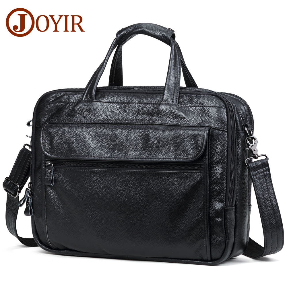 JOYIR Men Briefcases Genuine Leather Handbag 15