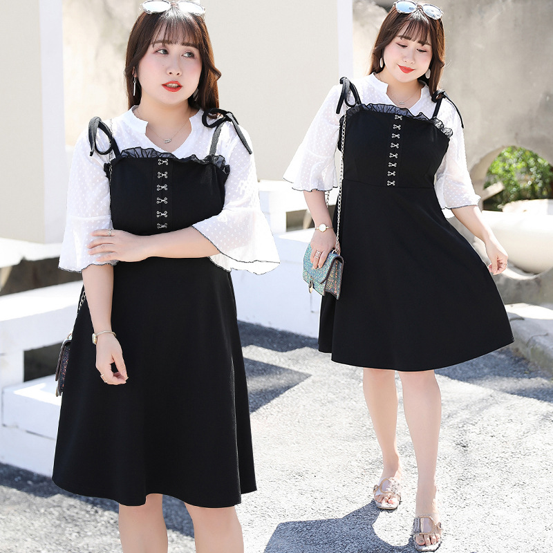 [Xuan Chen] Early Autumn New Style Large GIRL'S Large Size Dress France Non-mainstream Young-Style Two-Piece Set A Generation Of