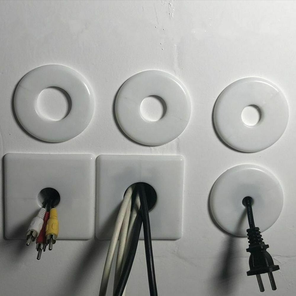 High Quality Plastic Wall Wire Hole Cover Air-conditioning Pipe Plug Decorative Cover For Home Office Hotel Furniture Hardware