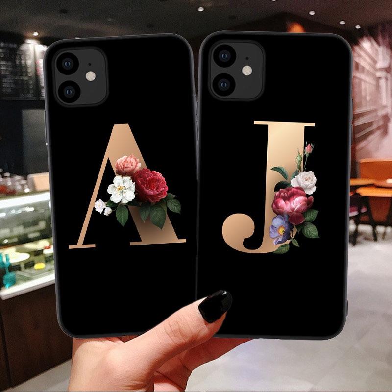 For Samsung J8 (On8 J810) J730 J4 PLUS A50S A70S A90 A51 A71 A81 A91 Customized Letter Flower Mobile Phone Case Cellphone Bag