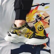 Мужские кроссовки Наруто удзумаки повседневная обувь с аниме