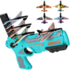 Nwe Airplane Launcher Bubble Catapult Plane Toy Airplane Toys for Kids plane Catapult Gun Shooting Game Toys Outdoor Sport Toys