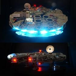 Led light kit voor 75192 en 05132 Falcon Millennium Bouwstenen Model (niet inbegrepen blokken set)