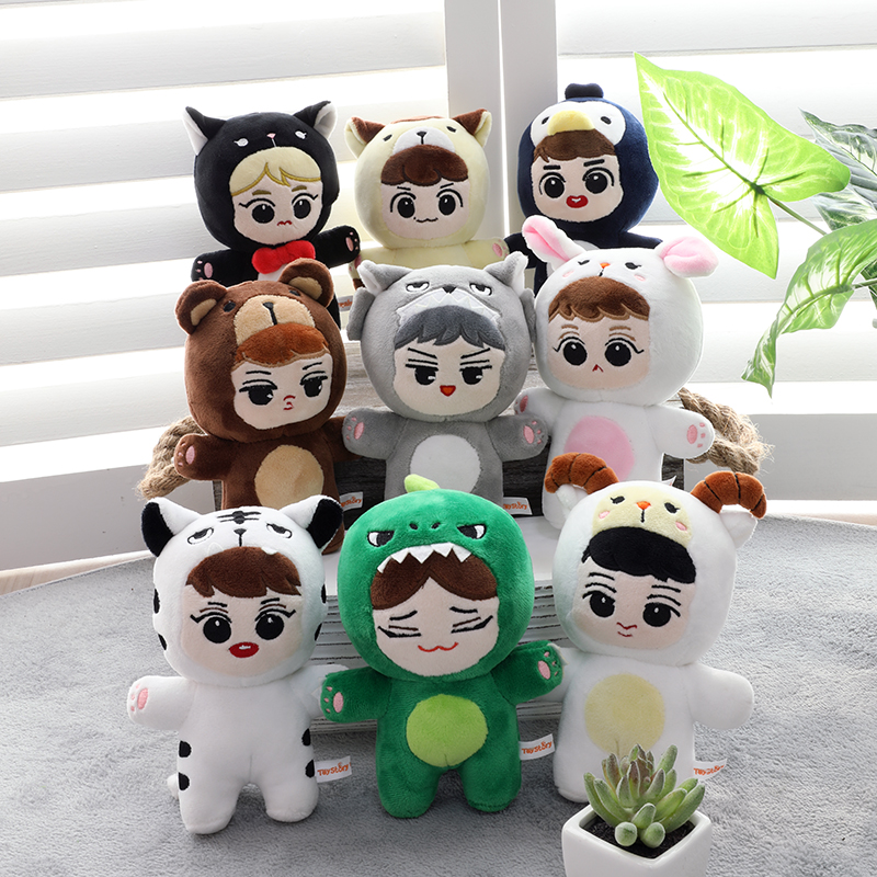 Korean pop EXO BAEKHYUN CHANYEOL CHEN D.O. KAI LAY SEHUN SUHO XIUMIN plush Star doll cute Fans toys quality gifts