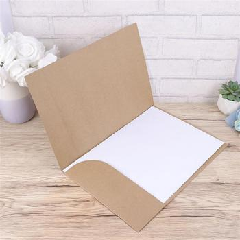 20pcs A4 Kraft Paper File Folder Document Paper Organizer Storage Holder School Office Stationery Supplies 1