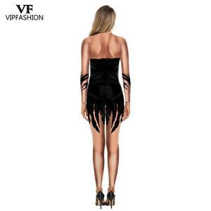 Image 3 - VIP 패션 3D 영화 Maleficent 의상 카니발 악마의 마녀의 코스프레 복장 파티 멋진 Jumpsuits 여성을위한 할로윈 의상