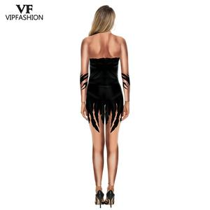 Image 3 - VIP FASHION 3D Movie Maleficent Costume Carnival Evil witch Cosplay Outfit Party Fancy Jumpsuits Halloween Costumes For Women