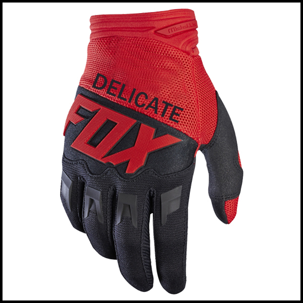 Zarte Fuchs Schwarz Rot MX Motocross <font><b>Racing</b></font> Lokomotive MTB Bike Off-road Handschuhe image