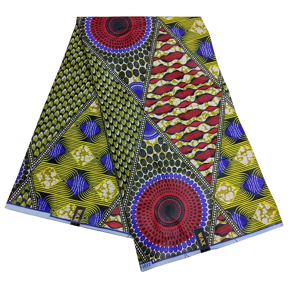 6Yards\Set African Dashiki Snake Scales Circle Irregular Print Wax Fabric