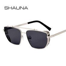 Shauna металлические солнцезащитные очки в стиле панк с двойной