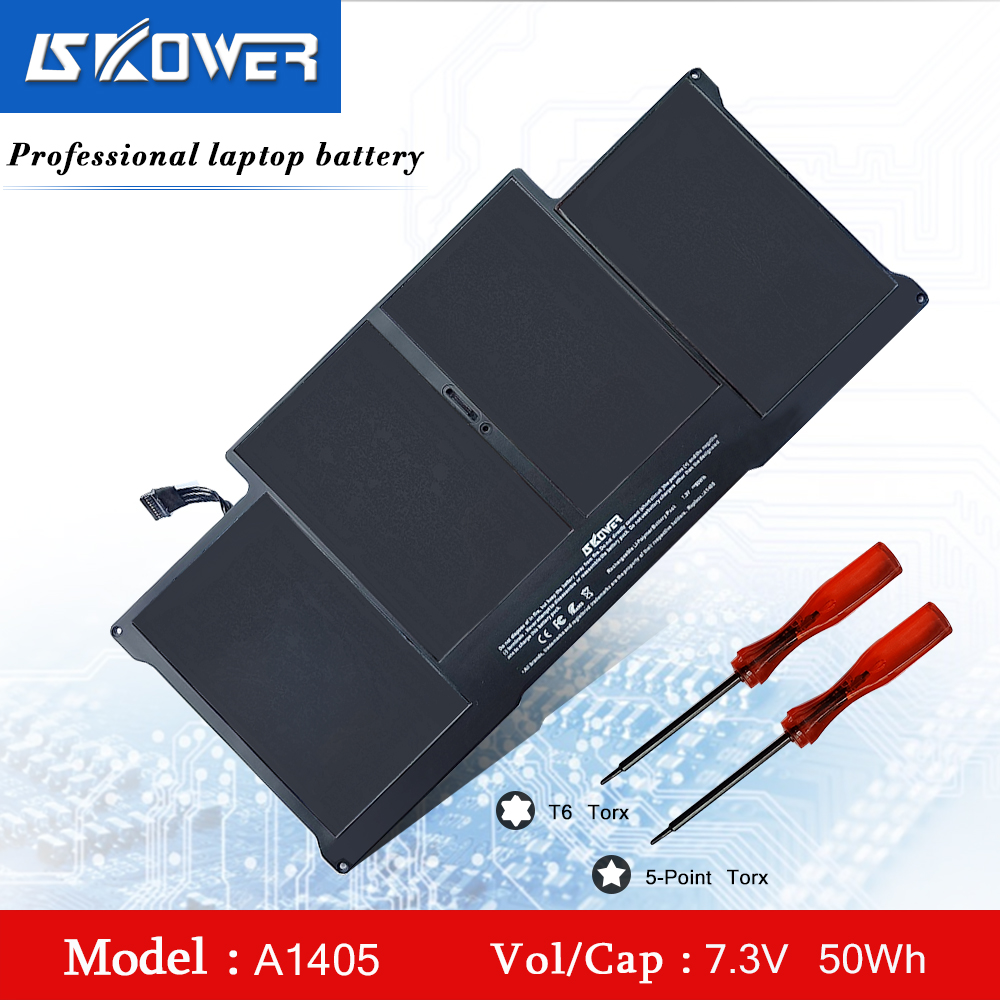 SKOWER 50WH A1405 A1496 A1377 batterie d'ordinateur portable pour Apple Macbook Air 13 pouces A1369 (année 2010-2011) série A1466 (année 2012-2015)