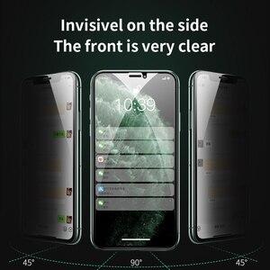 Image 3 - HOCO פרטיות הגנת מסך מגן עבור iPhone 11 פרו X Xs Max XR anti מציץ מגן מלא מזג זכוכית 3D סרט