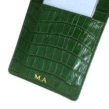 Lederen Kaarthouder Pouch Case Voor Iphone 12 Mini Pro Max 11 12Pro Xs Xr Telefoon Luxe Krokodil Riem dunne Tas Cover