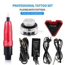Best selling Tattoo Machine Rocket Rotating Pen Set Aurora Power Foot Switch Art Kit Supplies