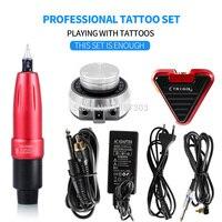 Best selling Tattoo Machine Rocket Rotating Pen Tattoo Set Set Aurora Power Tattoo Foot Switch Art Tattoo Kit Supplies