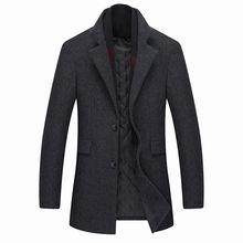 Зима 2020 новый шарф шерстяное зимнее пальто мужской повседневный