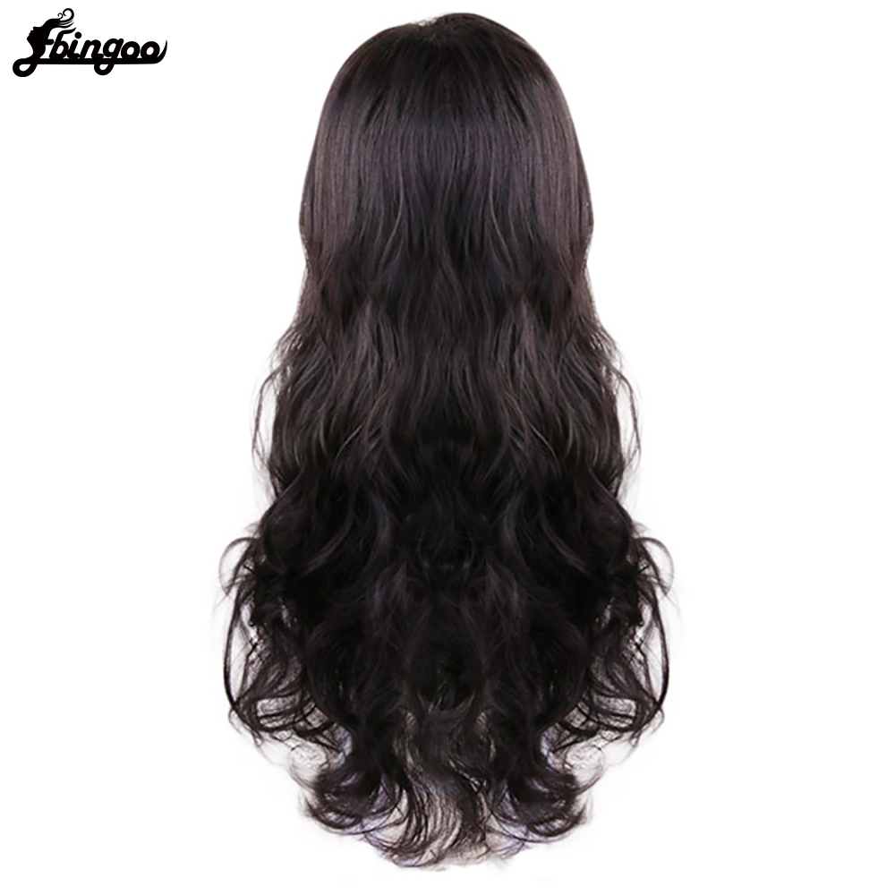 Image 4 - Ebingoo Hair Cap + Headwear + Wonder Woman Diana Prince Side Part Natural Long Body Wave Dark Brown Synthetic Cosplay WigSynthetic None-Lace  Wigs   -