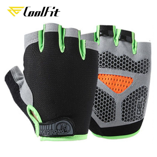 CoolFit Breathable Fitness Gloves Silicone Palm Hollow Back Gym Gloves Weightlifting Workout Dumbbell Crossfit Bodybuilding 5