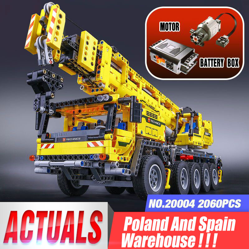 DHL 20004 Technic Motor Power Mobile Crane Mk II Model compatible <font><b>42009</b></font> Building Blocks Bricks Assemble Children Toys image