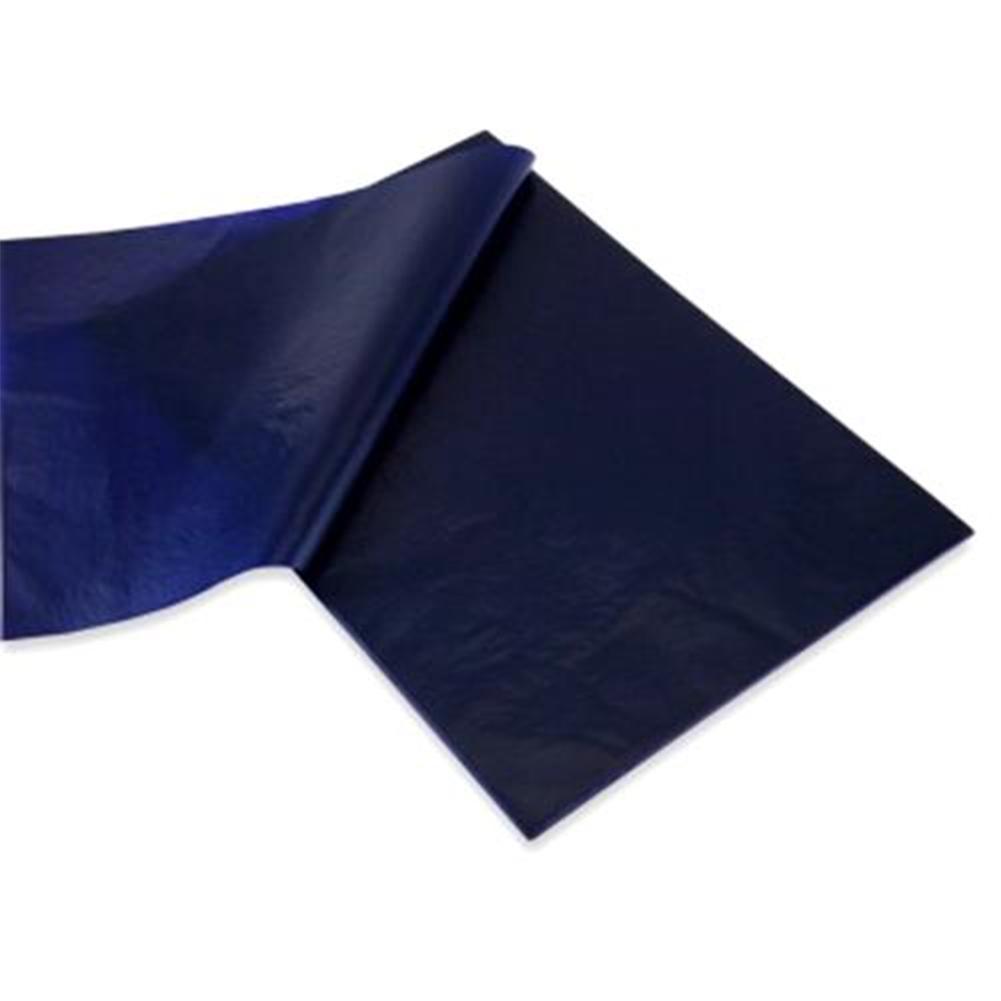 50 Pcs Blue Double Sided Carbon Paper Copy Carbon Paper School 48K /32K/16K Thin Paper Finance Office Stationery Supplies T W5H8