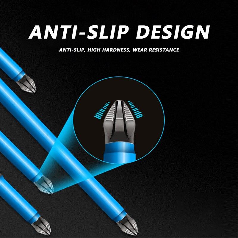 Puntas de estrella destornillador largo Bits/25/50/65/70/90/125/150mm/7 Uds PH2 Anti-slip magnéticos