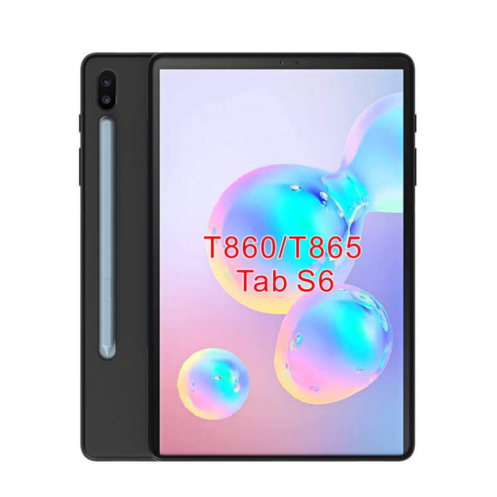 black matte Skid-proof Soft TPU Transparent Silicone Clear Case Cover for Samsung Galaxy Tab S6 10.5 Inch 2019 SM-T860/T865 image
