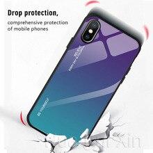 Gradient Tempered Glass Case For Xiaomi Redmi Note 7 5 6 Pro Pocophone F1 Mi8 Mi A2 Lite 6X 5X Mi9 SE 9t Cover Protective Fundas все цены