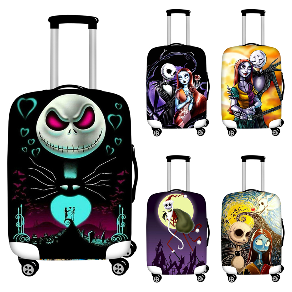 FORUDESIGNS Luggage Cover Nightmare Before Christmas Printing Trolley Suitcase Case Baggage Protective Covers Travel Accessories