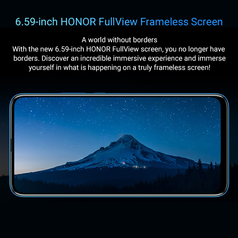 Special Version Honor 9X Smartphone 4G128G  48MP Dual Cam 6.59'' Mobile Phone Android 9 4000mAh OTA Google Play 2