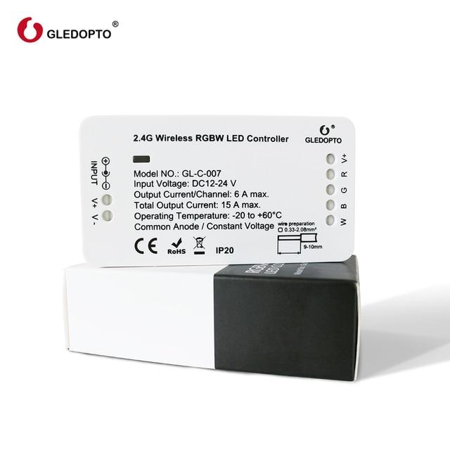 Gledoptoジグビースマートホームled rgbww ledストリップと互換性エコープラスジグビー 3.0 ハブsmartthings DC12 24V led