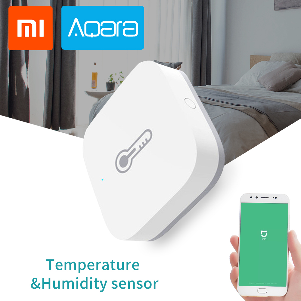 Xiaomi Aqara Smart Home Air Temperature Humidity Environment Sensor Security Monitoring Automation Work With Zigbee For Mi Home