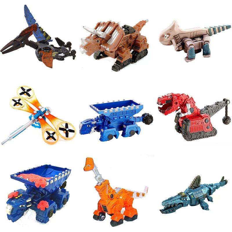 Natal dinotruxs dinossauro caminhão rollodon ty rux dozer skya ton-ton scoot pounder garby figuras presentes para as crianças presente do feriado