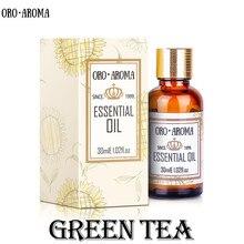 Famous brand oroaroma natural green tea essential oil slimmi