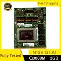 Оригинал Q3000M Quadro 3000M 2GB для Dell M6600 M6700 M6800 HP 8760W 8770W 8740W VGA Видеокарта N12E-Q1-A1