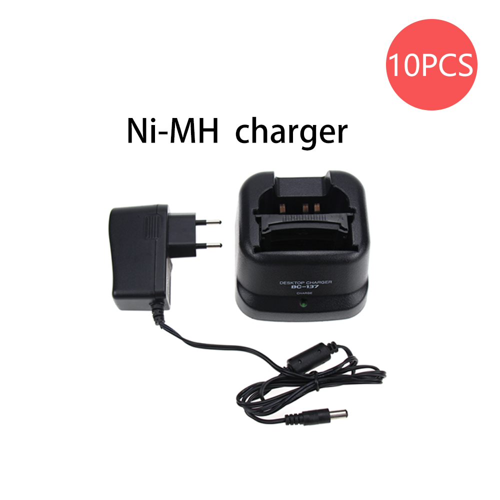 10X BC-137 Li-ion Battery Desktop Charger For Radios ICOM IC-F11 IC-F21 IC-F30 IC-V82 IC-F30