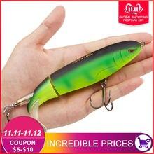 Clopper plopper difícil lápis isca de pesca rotação suave cauda 9cm 13cm pique isca de pesca isca artificial pescar stickbait