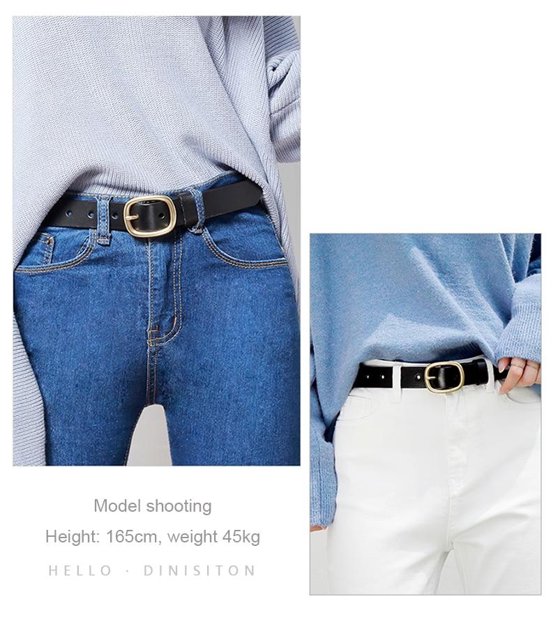 DINISITON, женский ремень, натуральная кожа, ремни для женщин, женский, золотой, с пряжкой, ремень, необычный, винтажный, для джинсов, Прямая поставка