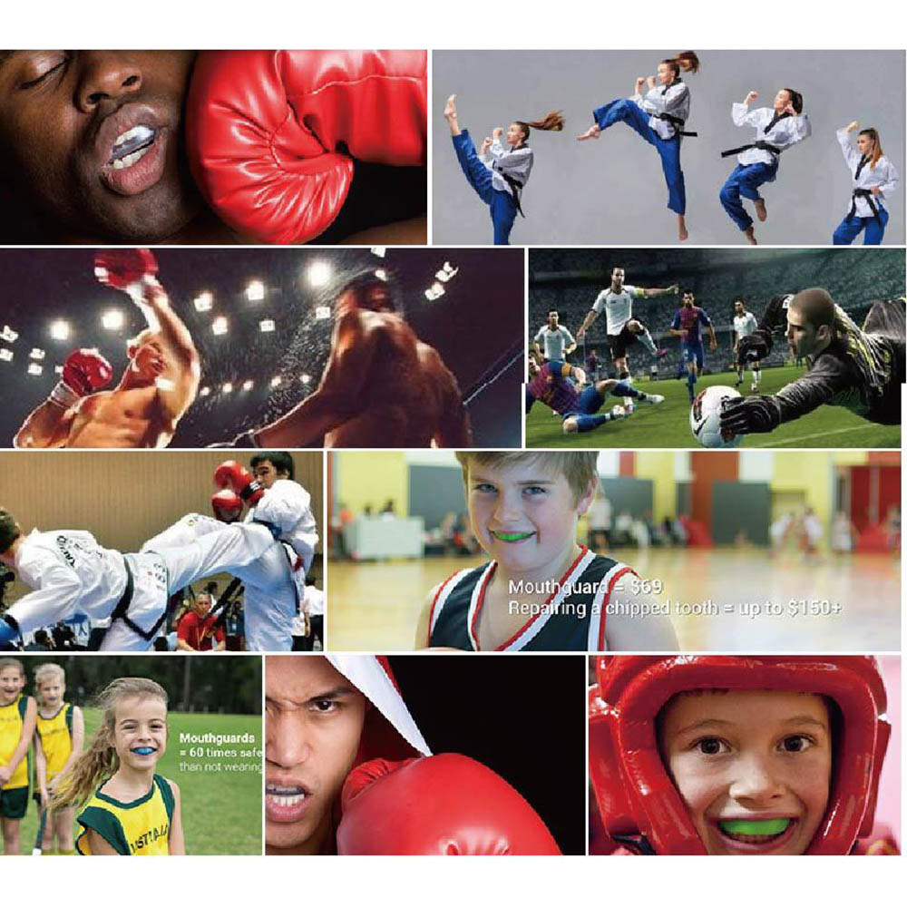Non-Toxic Mouth Guard and Oral Teeth Protector Suitable for Football/Basketball/Boxing/Karate 1