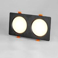 더블 스퀘어 led 빛 아래로 높은 전력 10w 14w 18w led 조명 아래로 recessed 램프 AC110V-240v