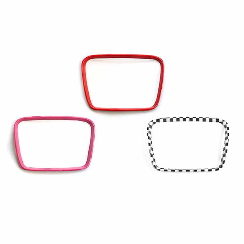 KJAUTOMAX ABS rouge rose damier pour Mini Cooper F54 multimédia bouton décoration
