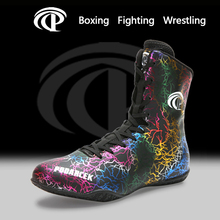 New Style Boxing Shoes Wrestling Fighting Men Women High-top Sanda Training Shoes Lightweight Boxing Combat Shoes