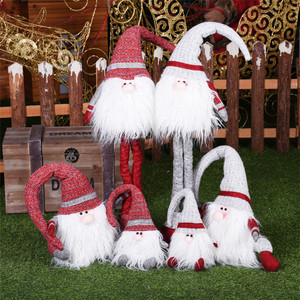 Christmas Ornaments Rudolf Doll Christmas Decorations for Home Cute Gnome Figurines New Year Presents Figures