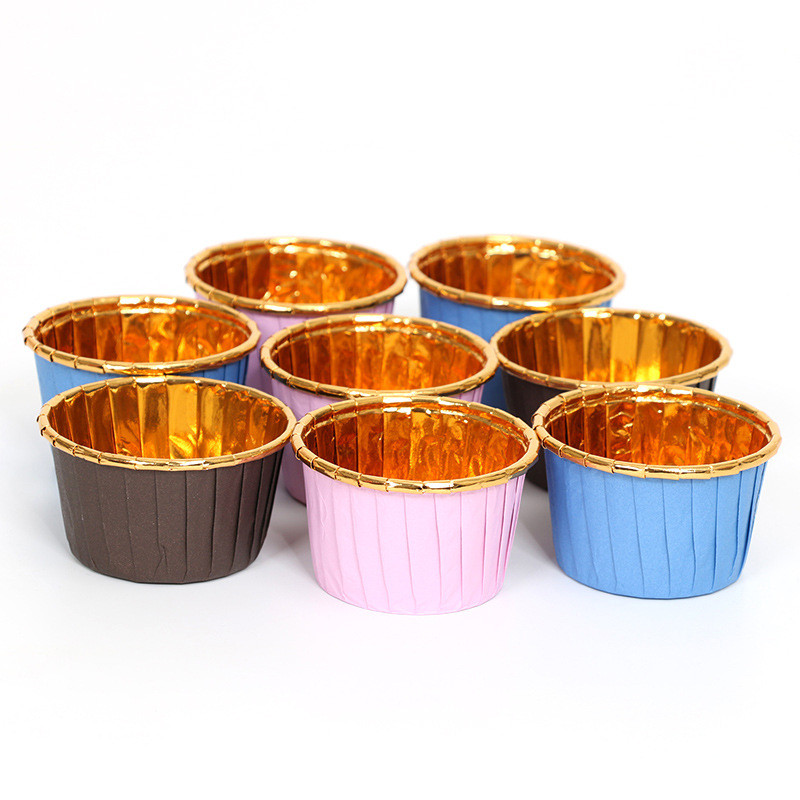 50 Pcs Muffin Cupcake Liner Cake Wrappers Baking Cup Tray Case Cake Paper Cups DIY Pastry Tools Kitchen Party Supplies