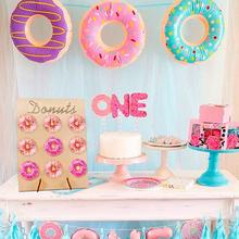 Wooden Donuts Frame Display Stand Wedding Birthday Party Gift DIY Donut Rack Shelf Table Decoration #