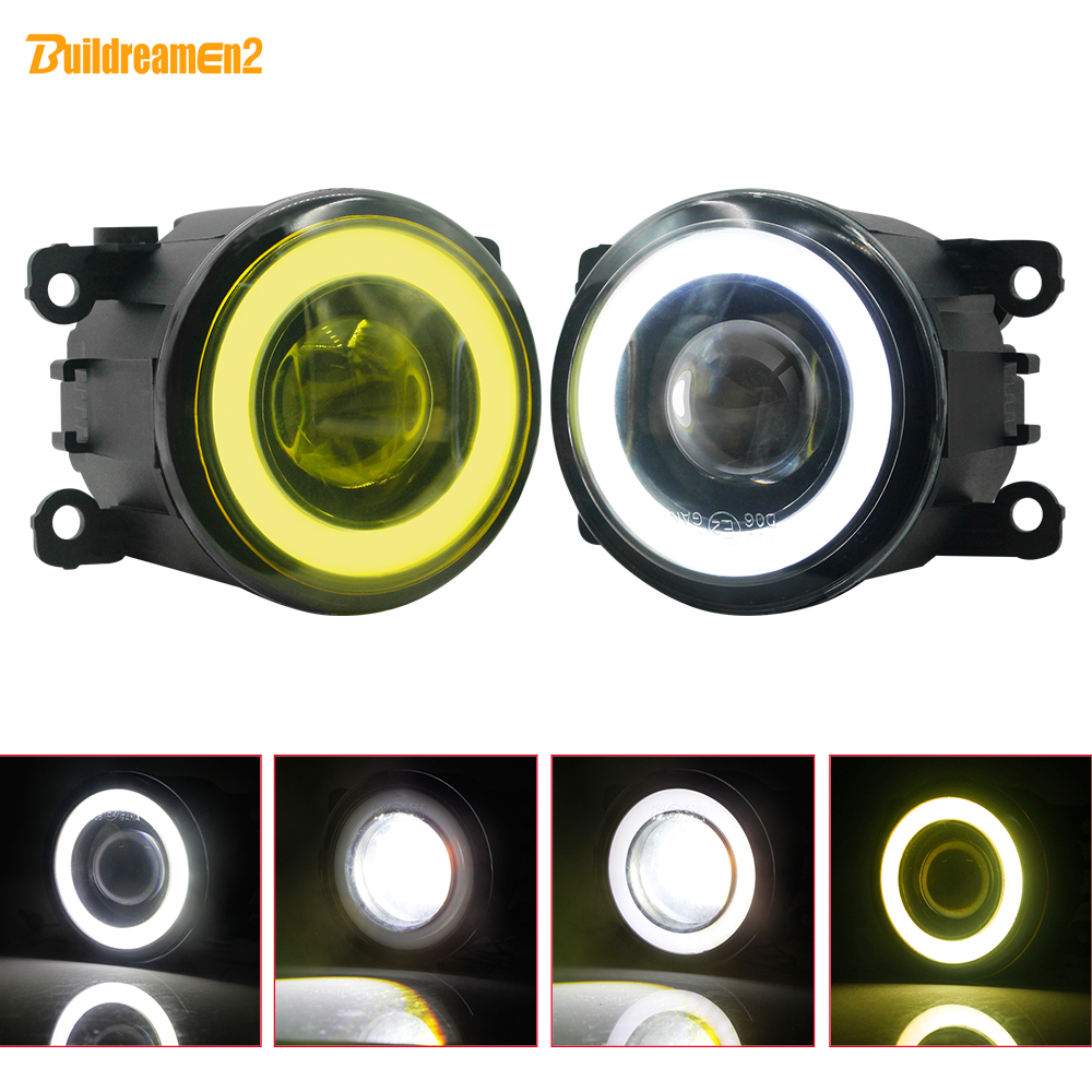 2 X Car LED Fog Light Angel Eye DRL Front Fog Lamp For <font><b>Renault</b></font> Duster Clio Megane Twingo Trafic Scenic <font><b>Koleos</b></font> Kadjar Lodgy Kwid image