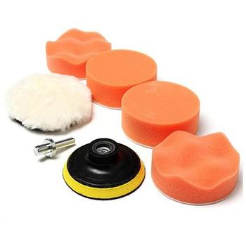 7pcs 3 Inch Sponge Car Polisher Waxing Pads Buffing Kit for Boat Car Polish Buffer Drill Wheel Polishing Removes Scratches image