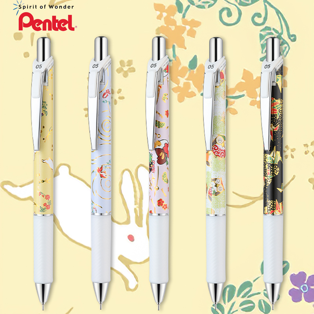5 Pcs Japanese Pentel Bln75 Quick-drying Gel Pens Limited Edition Japanese Style Series Replacement Refill Test Pen 0.5mm